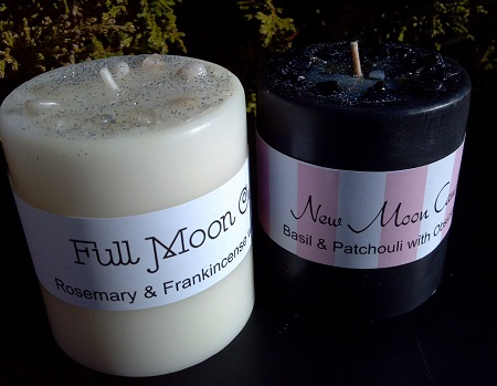 New Moon Full Moon Candle Set