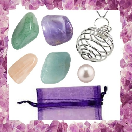 Law Of Attraction Crystal Pouch